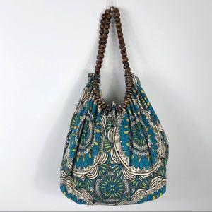 Amici Hobo Bag Wooden Bead Shoulder Bag